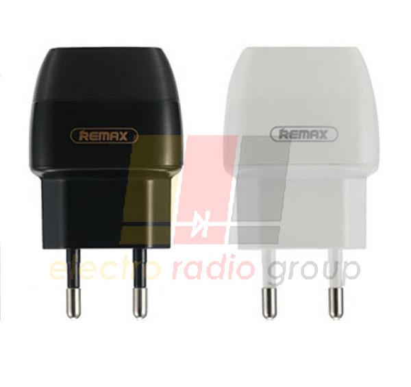 СЗУ 110-240V Remax  Flinc Charger RP-U29 , 2xUSB, 5V, 1+2.1A, Black(White), Blister