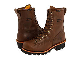 "Ботинки/Сапоги (Оригинал) Chippewa 8"" Bay Apache Waterproof Lace-to-Toe Logger Brown"