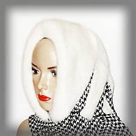 Меховой платок из белой норки