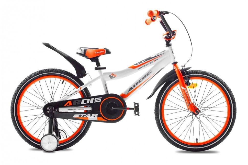 """Детский велосипед ARDIS STAR 20""""  Белый/Оранжевый"""