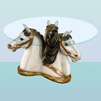 Журнальный стеклянный стол, кофейный (чайный) столик Тройка