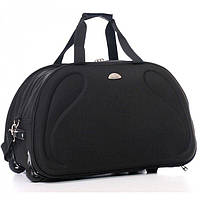 b19d259cddf2 Дорожная сумка на колесах Wallaby черная 58х35х36 10430 (объем 73л)