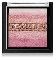 MAKEUP REVOLUTION Shimmer Brick бронзер та освітлювач 2в1
