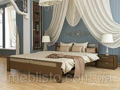 Двоспальне ліжко Афіна з натурального дерева