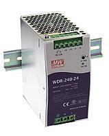 WDR-240-24 Блок питания на Din-рейку Mean Well 240вт, 24в,10A