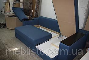 Угловой диван Лондон  с мини баром и нишей на еврокнижке, фото 3