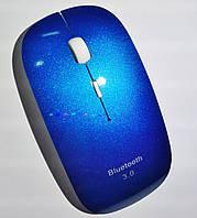 Беспроводная Bluetooth 3.0 мышь, плоская, синяя, фото 1