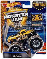 Машинка Hot Wheels Monster Jam 1:64 Titan Truck with Team Flag