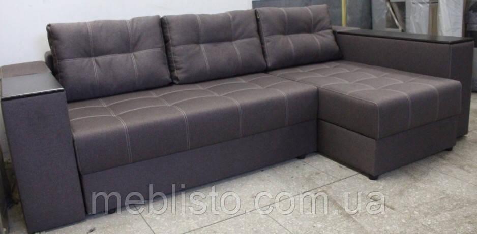 Кутовий диван Престиж б-3 з міні-баром та нішею на еврокнижке