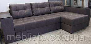 Угловой диван Престиж б-3  с мини баром и нишей на еврокнижке, фото 2