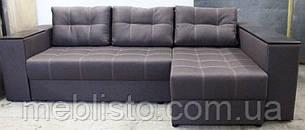 Кутовий диван Престиж б-3 з міні-баром та нішею на еврокнижке, фото 2