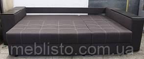 Угловой диван Престиж б-3  с мини баром и нишей на еврокнижке, фото 3
