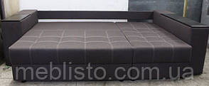 Кутовий диван Престиж б-3 з міні-баром та нішею на еврокнижке, фото 3
