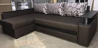 Угловой диван Гранд с мини баром и нишей