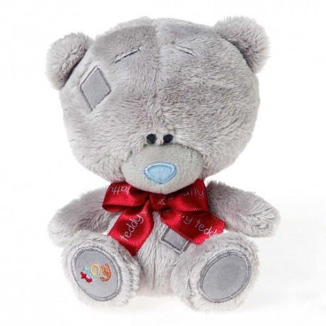 """Ведмедик Тедді """"MTY"""" з червоним бантом"""