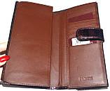 Женский кожаный лаковый кошелек Wildness темный бордо, фото 5