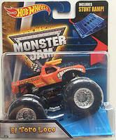 Машинка внедорожник (Монстр-трак) и рампа Hot Wheels Monster Jam 1:64 El Toro Loco