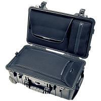 Бизнес-кейс со съемной  сумкой для ноутбука, колесами и выдвижной ручкой.