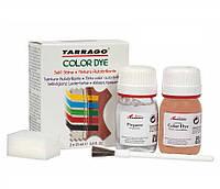Краситель для гладкой кожи и текстиля + очиститель Tarrago Color Dye 25мл+25мл цвет малиновый (101)
