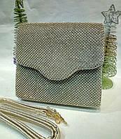 Женская вечерняя сумочка-конверт (золотая) №3552