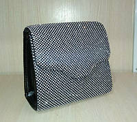 Женская вечерняя сумочка-конверт (черная) №3552
