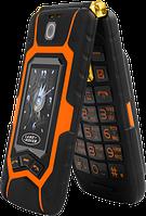 Раскладной противоударный телефон с внешним дисплеем Land Rover X9 на 2 Sim батарея 16800Mah