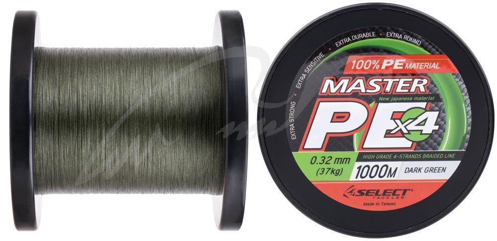 Шнур Select Master PE 1000m 0.32мм 37кг темн.-зел. (1870.15.94)