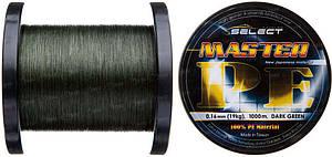 Шнур Select Master PE 1000m 0.18 мм 21кг темн.-зел. (1870.01.90)
