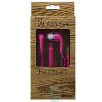 Наушники с микрофоном Samsung EO-HS330 Super Bass color розовые