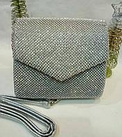 Женская вечерняя сумочка-конверт в стразах №3553