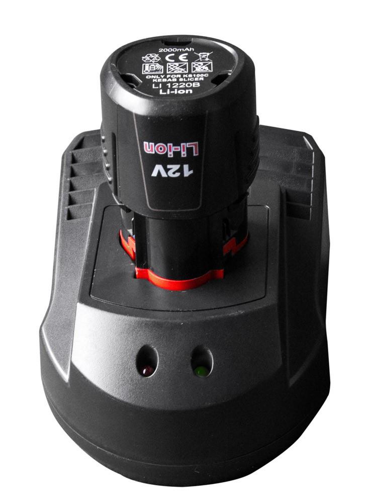 Аккумулятор и зарядная станция к ножу для кебаба AKKS100C#LSKS100C GGM