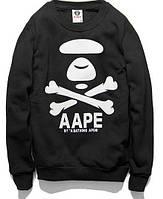 Свитшот чёрный A Bathing Ape logo | Кофта стильная