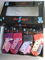 Махровые детские носки Design Socks  от 12 до 24 месяцев для девочек с рис горошка