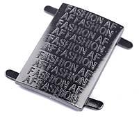 """Пластина """"Fashion"""", цв. темный никель, 20587"""