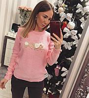 Модный женский свитер Коко розовый