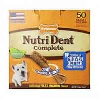 Жевательное лакомство для чистки зубов собак до 7 кг Nylabone Nutri Dent Filet Mignon