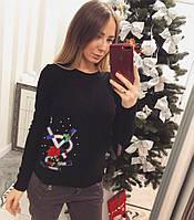 Модный женский свитер YSL чёрный