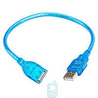 Удлинитель USB гнездо/штекер 0.3м синий