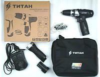 Аккумуляторная дрель-шуруповерт TITAN PDS122DS set (2х12В 2А/ч, 32Нм, LED-фонарь)
