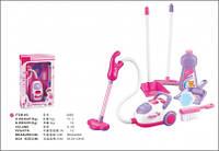Набор для уборки с игрушечным пылесосом