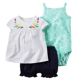 Комплект одежды с вышивкой от Carters 18М(78-83см)