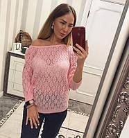 Красивый женский джемпер розовый