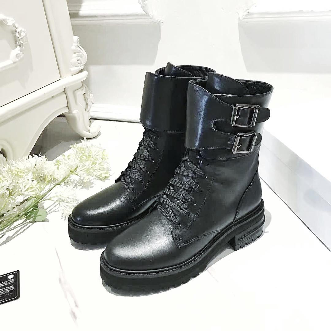 Женские высокие ботинки со шнуровкой и пряжками Dior - Люкс реплики  брендовых сумок, обуви в a1ec08664c1