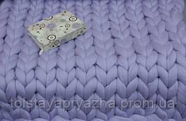Плед из шерсти (цвет лаванда) 0,8х1,2 м