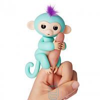 Интерактивная ручная обезьянка Fingerlings Zoe Fun Monkey бирюзовая