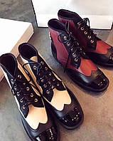 Женские демисезонные комбинированные ботинки Chanel