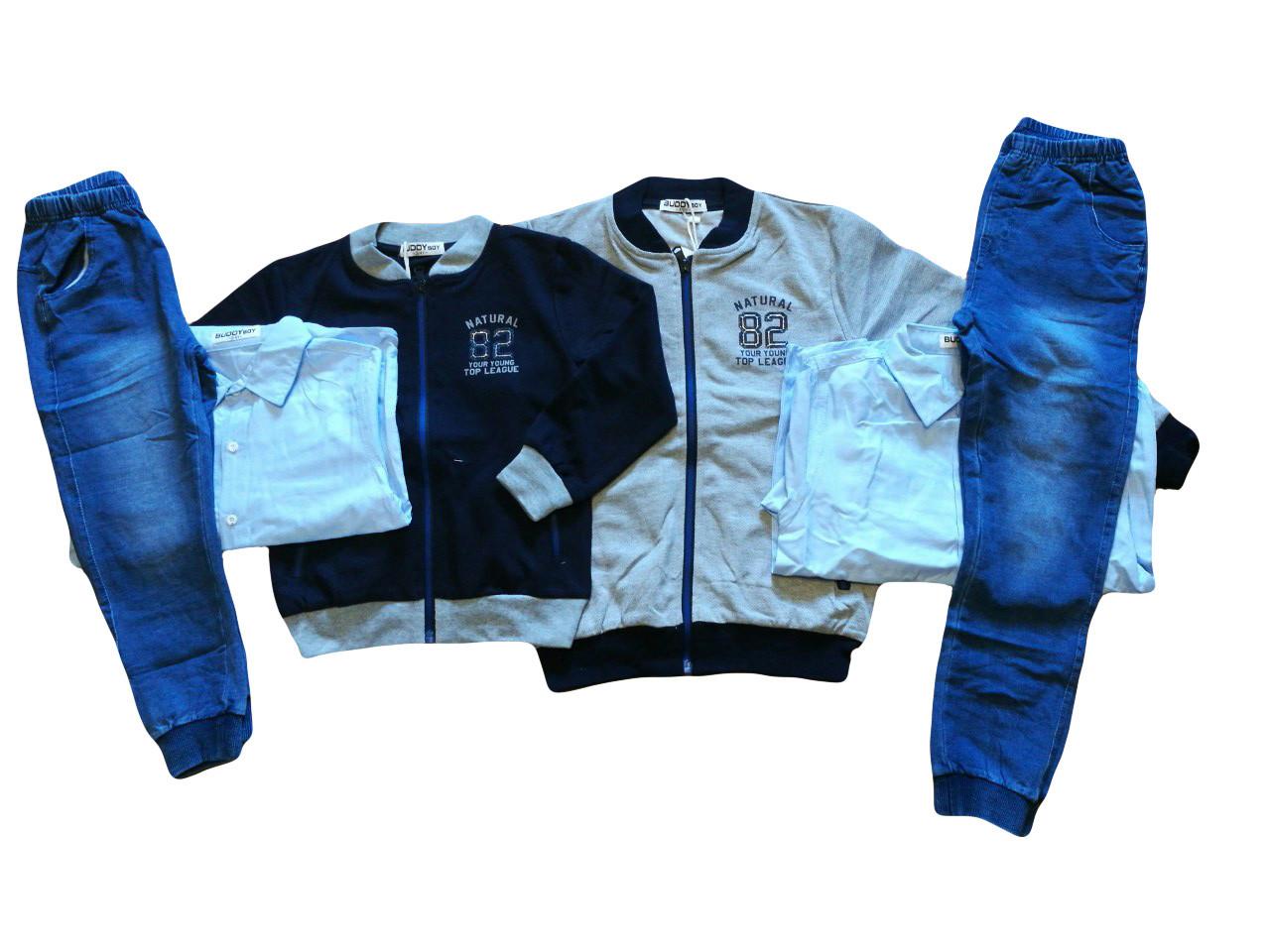 Трикотажные  костюмы-тройка для мальчиков оптом, Buddy Boy, размеры 3/4-7/8  арт. 5575