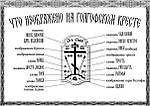 Что изображено на Голгофском кресте