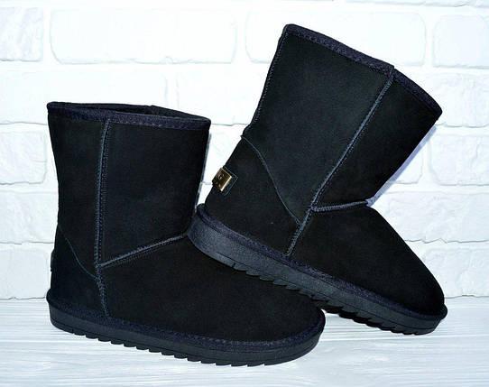 41 р UGG Натуральный замш угги мужские женские уги ботинки черные, фото 2