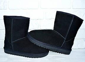 41 р UGG Натуральный замш угги мужские женские уги ботинки черные, фото 3